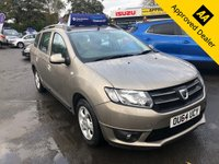 USED 2014 64 DACIA LOGAN MCV 1.5 LAUREATE DCI 5d 90 BHP IN METALLIC BRONZE WITH ONLY 54000 MILES, 2 OWNERS, FULL SERVICE HISTORY AND A GREAT SPEC Approved Cars are pleased to offer this stunning 2014 Dacia Logan MCV in metallic bronze with only 54000 miles. This is a well looked after an maintained car and comes with a full service history. This is an ideal family car with a spacious interior and a large cargo area. It is well equipped with DAB radio, Bluetooth, cruise control, abs, power steering and much much more. For more information or to book a test drive please call our sales team on 01622 871555.