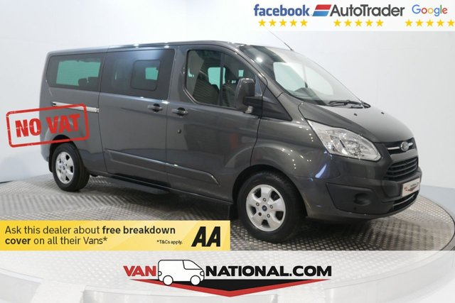 USED 2016 16 FORD TOURNEO CUSTOM 2.0 310 TITANIUM TDCI 5d 170 BHP 9 SEATER LWB (NO VAT NO VAT NAV AND CAMERA LEATHER)  * EXTENDED WARRANTIES AVAILABLE FROM JUST £199 *