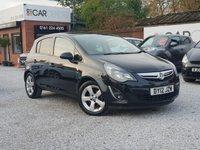 2012 VAUXHALL CORSA 1.4 SXI AC 5d 98 BHP £3995.00