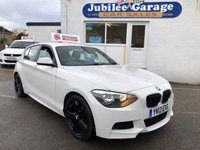 USED 2013 13 BMW 1 SERIES 2.0 118D M SPORT 5d 141 BHP £30 Road Tax, White, Alcantara Seats, Dab Radio!