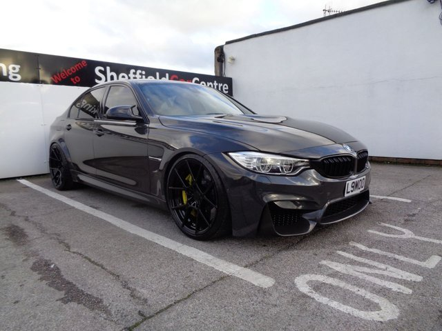 USED 2016 65 BMW M3 3.0 M3 4d AUTO 560 BHP F80 Bmw individual Dravit Gray Shade  Sat Nav Full Leather 560 Bhp Carbon Roof Spoiler Mirrors Leather Dash Bmw M Performance Carbon Alacantara Race Display Steering Wheel And Carbon Rear Diffuser