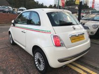 USED 2012 62 FIAT 500 1.2 Lounge (s/s) 3dr GLASS ROOF+2 OWNERS+STUNNING!!