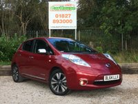 USED 2014 64 NISSAN LEAF 0.0 TEKNA 5dr AUTO £0 Tax, Sat Nav, Leather