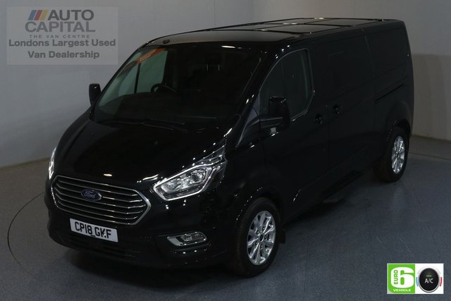 2018 18 FORD TOURNEO CUSTOM 2.0 310 TITANIUM LIMITED LWB 129 BHP 9 SEATS MINIBUS AIR CON, FRONT- REAR PARKING SENSORS, ALLOY WHEEL, HEATED SEATS