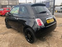 USED 2012 62 FIAT 500 1.2 STREET 3d 69 BHP Black Leather & Alloys Street Edition