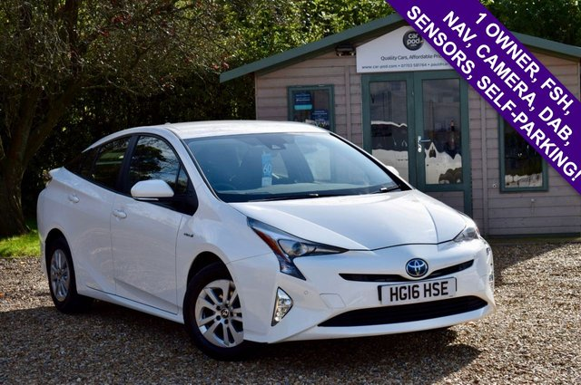 USED 2016 16 TOYOTA PRIUS 1.8 VVT-I BUSINESS EDITION PLUS 5d 97 BHP FSH, NAV, WIRELESS CHARGING, £0 TAX, 94 MPG, GREAT CONDITION!