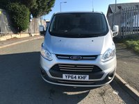 USED 2014 64 FORD TRANSIT CUSTOM 2.2 270 LIMITED LR P/V 124 BHP LIMITED AIR CON ALLOYS
