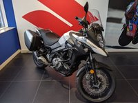 USED 2019 SUZUKI V-STROM 650 ***X MODEL WITH SUZUKI PANNIERS PLUS R&G ACCESSORY BAR***