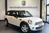 "USED 2012 12 MINI CLUBMAN 1.6 COOPER 5DR 122 BHP full service history Finished in a stunning pepper white styled with 16"" alloys. Upon opening the drivers door you are presented with half leather interior, full service history, bluetooth, dab radio, light package, Multifunction steering wheel, Auto start/stop function, Sports seats, Fog lights, Automatic air conditioning, parking sensors"