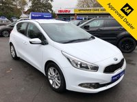 2012 KIA CEED 1.6 CRDI 2 5d AUTO 126 BHP IN PEARL WHITE WITH ONLY 25700 MILES, FULL SERVICE HISTORY AND A GREAT SPEC  £6499.00