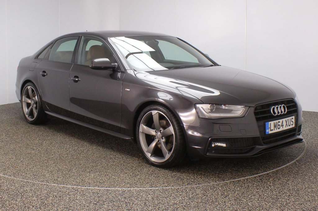 USED 2014 64 AUDI A4 2.0 TDI BLACK EDITION START/STOP 4DR AUTO SAT NAV 1 OWNER 148 BHP FULL AUDI SERVICE HISTORY + HEATED LEATHER SEATS + SATELLITE NAVIGATION + BANG & OLUFSEN PREMIUM SPEAKERS + PARKING SENSOR + BLUETOOTH + CRUISE CONTROL + CLIMATE CONTROL + MULTI FUNCTION WHEEL + XENON HEADLIGHTS + DAB RADIO + ELECTRIC SEATS + RADIO/CD/AUX/USB + ELECTRIC WINDOWS + ELECTRIC MIRRORS + 19 INCH ALLOY WHEELS