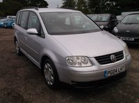 USED 2004 04 VOLKSWAGEN TOURAN 2.0 SE TDI 5 STR 5d 136 BHP Lovely Driving, Economical and Reliable VW Touran With 3 Full Sized Rear Seats!