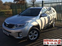 USED 2013 13 KIA SORENTO 2.2 CRDI KX-2 5d AUTO 194 BHP 7 SEATER LEATHER FSH 7 SEATER. STUNNING SILVER MET WITH FULL BLACK LEATHER TRIM. HEATED SEATS. CRUISE CONTROL. 17 INCH ALLOYS. COLOUR CODED TRIMS. PRIVACY GLASS. PARKING SENSORS. BLUETOOTH PREP. CLIMATE CONTROL INCLUDING AIR CON. MEDIA INTERFACE. MFSW. ROOF BARS. MOT 07/20. SERVICE HISTORY. PRESTIGE SUV CENTRE LS23 7FR. TEL 01937 849492 OPTION 1