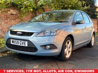 USED 2009 59 FORD FOCUS 1.6 ZETEC 5d 100 BHP EXCELLENT SERVICE HISTORY 6 SERVICES, 1YR MOT,  AIR CON, FOGS, RADIO CD, E/WINDOWS, R/LOCKING, FREE WARRANTY, FINANCE AVAILABLE, HPI CLEAR, PART EXCHANGE WELCOME,