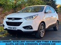 USED 2014 64 HYUNDAI IX35 1.7 S CRDI 5d 114 BHP 2 OWNERS, EXCELLENT SERVICE HISTORY, 1YR MOT, STUNNING CONDITION, ALLOYS, AIR CON,  CRUISE, FOGS, RADIO CD, E/WINDOWS, R/LOCKING, FREE WARRANTY, FINANCE AVAILABLE, HPI CLEAR, PART EXCHANGE WELCOME,