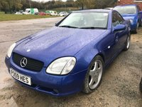 USED 1997 P MERCEDES-BENZ SLK 2.3 SLK230 KOMPRESSOR 2d 190 BHP ALLOYS PRIVACY A/C MOT 03/20 BLUE MET WITH FULL BLACK LEATHER. HEATED SEATS. CRUISE CONTROL. COLOUR CODED TRIMS. AIRCON. R/CD PLAYER. MOT 10/18. AGE/MILEAGE RELATED SALE. TEL: 01937 849492 OPTION 3