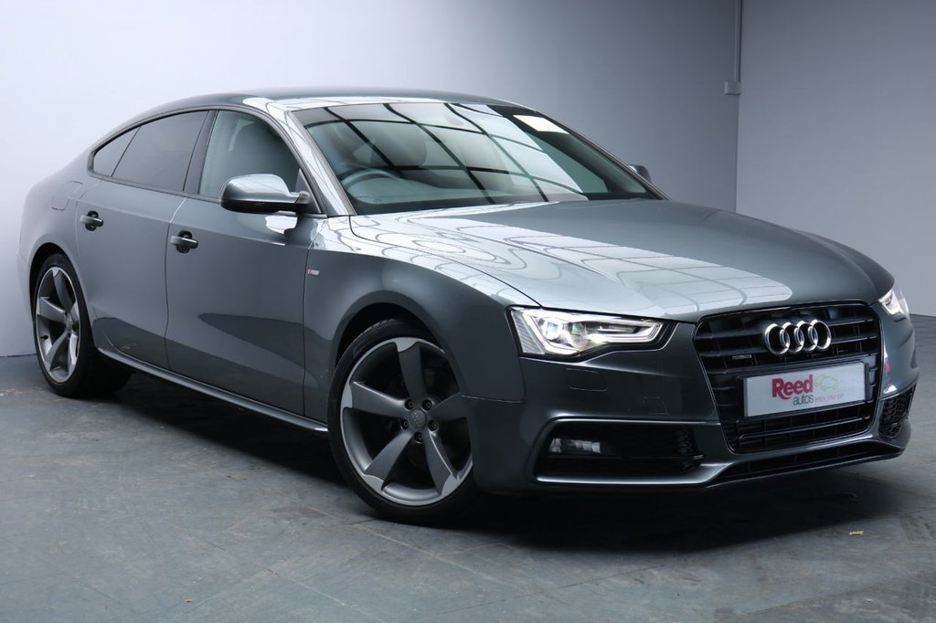 "USED 2013 13 AUDI A5 2.0 SPORTBACK TDI QUATTRO BLACK ED S/S 5d 175 BHP 19""ALLOYS+LEATHER+PARKING SENSORS+BLUETOOTH+SOUND PACK+SPORTS SUSPENSION"