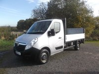 2016 VAUXHALL MOVANO 2.3 R3500 L2H1 DROPSIDE CDTI 125 BHP with Tail Lift £8750.00