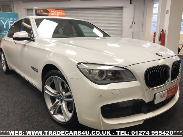 2011 60 BMW 7 SERIES 730LD M SPORT LWB LIMO IN ALPINE WHITE