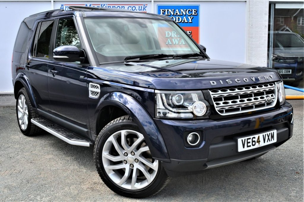 USED 2015 64 LAND ROVER DISCOVERY 4 SDV6 HSE 5d 4x4 7 Seat Family SUV AUTO with Unbelievable High Spec with Rear Entertainment Screens Rear Heated Seats Sat Nav DAB Heated Leather Front Seats Rear Camera Parking Sensors and masses more spec too much to list STUNNING IN LOIRE BLUE