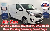 2016 VAUXHALL VIVARO 1.6 CDTi SPORTIVE 115 BHP in White with Air Conditioning, Bluetooth, Cruise Control, Rear Parking Sensors, DAB Radio, CD Player, Ply Lining and more £8980.00