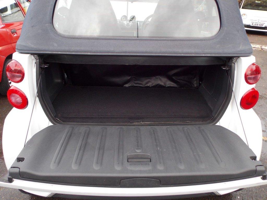USED 2012 62 SMART FORTWO CABRIO 1.0 PASSION 2d AUTO 84 BHP