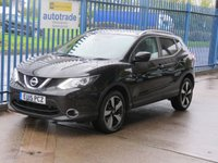 USED 2015 15 NISSAN QASHQAI 1.5 DCI N-TEC PLUS Sat nav Pan roof Rear camera 360 Cruise SatNav,Panoramic roof,privacy glass and service history