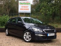 USED 2015 15 PEUGEOT 308 SW 1.6 BLUE HDI S/S SW ACTIVE 5dr £0 Tax, Sat Nav, 1 Owner, FSH