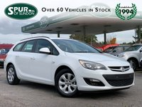 USED 2014 64 VAUXHALL ASTRA Sports Tourer 1.3 Cdti 16v Ecoflex Design 5dr Start Stop Low Cost Tax £20 A Year, Only 66,000 Miles, Direct From Ministry of Defence, Air Conditioning, Cruise Control.