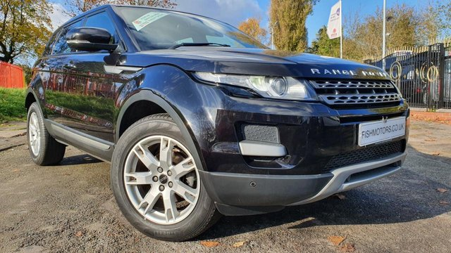 "USED 2012 62 LAND ROVER RANGE ROVER EVOQUE 2.2 ED4 PURE TECH 5d 150 BHP 2KEY+LEATHER+HISTORY+ELEC+NAV+18"" ALLOY+PARK+BLUETOOTH+MEDIA+CD+"