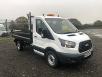 2017 FORD TRANSIT T350/130 SINGLE CAB TIPPER £13995.00