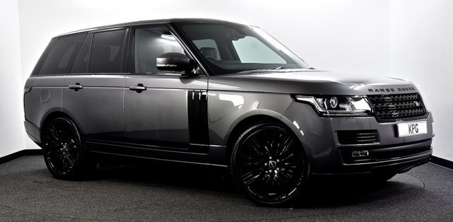 """USED 2016 66 LAND ROVER RANGE ROVER 3.0 TD V6 Vogue Auto 4WD (s/s) 5dr Pan Roof, Black Pack, 22""""s ++"""