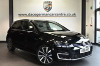 "USED 2016 16 VOLKSWAGEN GOLF 1.4 GTE 5DR AUTO 150 BHP full vw service history Finished in a stunning black styled with 18""alloys. Upon opening the drivers door you are presented with  full black leather interior, full vw service history, bluetooth, heated seats, park assist, dab radio, cruise control, daytime running lights, privacy glass, climate control, heated electric folding mirrors, parking sensors"