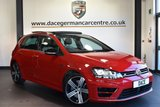"USED 2017 17 VOLKSWAGEN GOLF 2.0 R DSG 5DR AUTO 298 BHP full service history Finished in a stunning red styled with 18"" alloys. Upon opening the drivers door you are presented with half suede upholstery, full service history, satellite navigation, panoramic sunroof, bluetooth, heated seats, xenon lights, cruise control, dab radio, climate control, heated electric folding mirrors, parking sensors"