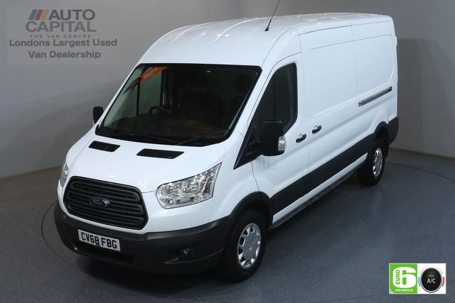 2018 68 FORD TRANSIT 2.0 350 RWD TREND L3 H2 129 BHP EURO 6 ENGINE   AIR CON, FRONT- REAR SENSORS, RUNNING LED LIGHTS