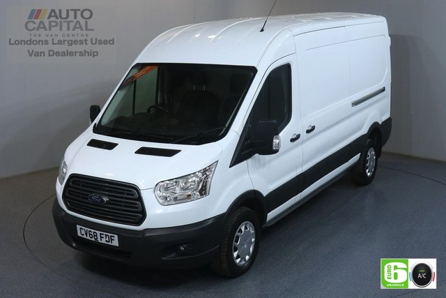 2018 68 FORD TRANSIT 2.0 350 RWD TREND L3 H2 129 BHP EURO 6 ENGINE   AIR CON, FRONT- REAR PARKING SENSORS