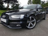 2012 AUDI A4 2.0 TDI BLACK EDITION 4d 141BHP £9190.00