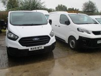 USED 2018 18 FORD TRANSIT CUSTOM 2.0 300 BASE Panel van  L1 H1 105 BHP . NEW SHAPE 2018 18 New shape custom 300 SWB L1H1 in frozen white Ford Warranty Applies until 2021