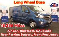 USED 2015 65 VAUXHALL VIVARO 1.6 2900 CDTI SPORTIVE BI-TURBO 120 BHP LONG WHEEL BASE in Panorama Blue Metallic, with only 18,236 Miles with Air Conditioning, Bluetooth, Rear Parking Sensors, Cruise Control, Ply Lined and more ** Drive Away Today** Over The Phone Low Rate Finance Available, Just Call us on 01709 866668 **