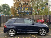 USED 2017 17 MERCEDES-BENZ GLE-CLASS 3.0 GLE 350 D 4MATIC AMG LINE 5d 255 BHP STUNNING CAVANSITE BLUE METALLIC PAINTWORK WITH FULL BLACK ARTICO LEATHER UPHOLSTERY. ONLY ONE OWNER. SATELLITE NAVIGATION. CRUISE CONTROL. HEATED SEATS. AIR CONDITIONING. STILL UNDER MERCEDES WARRANTY. ALLOY WHEELS. APPLE CAR PLAY. PLEASE GOTO www.lowcostmotorcompany.co.uk TO VIEW OVER 120 CARS IN STOCK