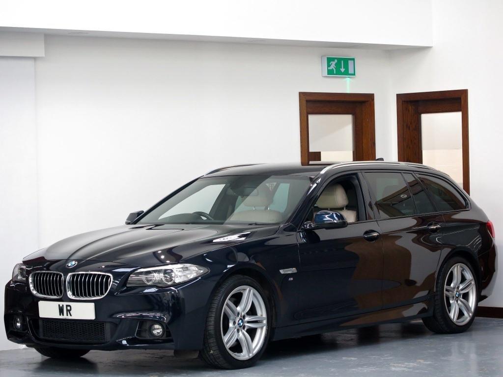 USED 2015 15 BMW 5 SERIES 3.0 535d M Sport Touring 5dr HUD+ D/COCKPIT+ HK + R/CAMERA