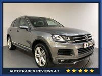 USED 2014 14 VOLKSWAGEN TOUAREG 3.0 V6 R-LINE TDI BLUEMOTION TECHNOLOGY 5d 242 BHP FULL VW HISTORY - SAT NAV - PAN ROOF - PARKING SENSORS - LEATHER - DAB - CRUISE - PRIVACY - 20' ALLOYS