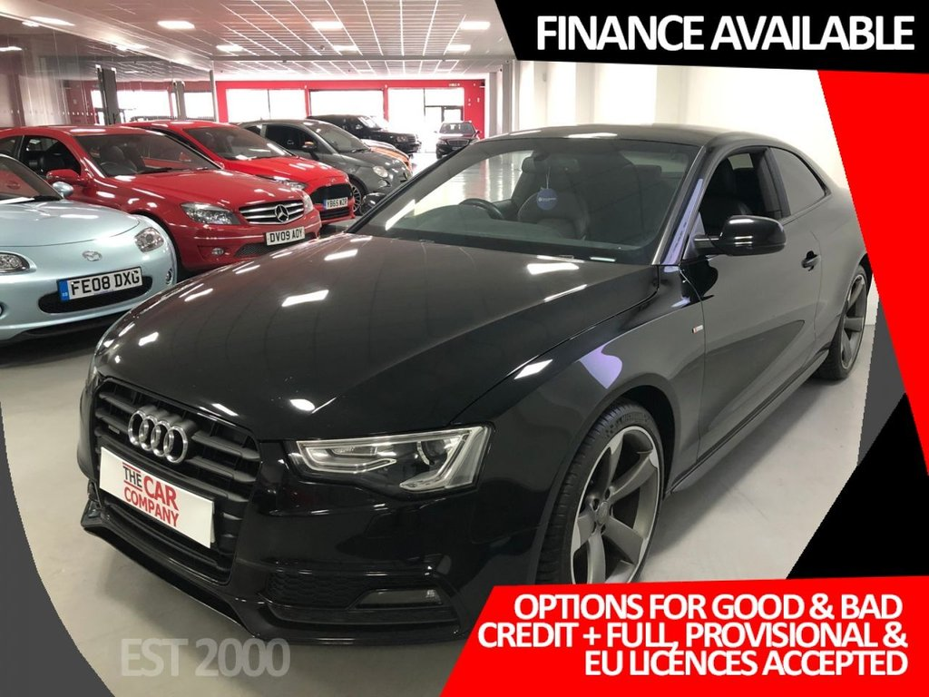 USED 2014 14 AUDI A5 2.0 TDI Black Edition quattro 2dr * BANG & OLUFSEN * ADAPTIVE CRUISE * 2 KEYS * MOT JULY 2020