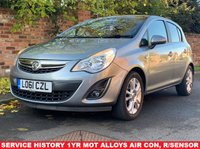 USED 2011 61 VAUXHALL CORSA 1.4 SXI AC 5d 98 BHP EXCELLENT SERVICE HISTORY, 1YR MOT, EXCELLENT CONDITION,  ALLOYS, AIR CON, REAR SENSORS, RADIO CD, E/WINDOWS, R/LOCKING, FREE WARRANTY, FINANCE AVAILABLE, HPI CLEAR, PART EXCHANGE WELCOME,