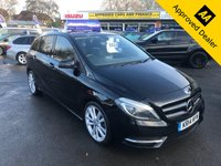 2014 MERCEDES-BENZ B CLASS 1.8 B200 CDI BLUEEFFICIENCY SPORT 5d AUTO 136 BHP IN METALLIC BLACK WITH ONLY 84000 MILES, FULL SERVICE HISTORY, AUTOMATIC, WITH A GREAT SPEC INCLUDING SAT NAV AND LEATHER £8799.00