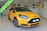 USED 2014 14 FORD FOCUS 2.0 ST-3 5d 247 BHP BLACK LEATHER, HEATED FRONT SEATS, PARTIAL ELECTRIC FRONT SEATS, LOW MILEAGE, STUNNING HATCHBACK