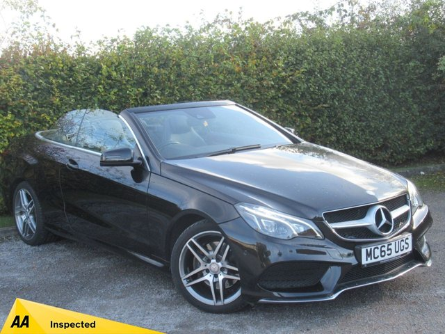 USED 2015 65 MERCEDES-BENZ E CLASS 2.1 E220 BLUETEC AMG LINE 2d  * AUTOMATIC * CONVERTIBLE * SATELLITE NAVIGATION *