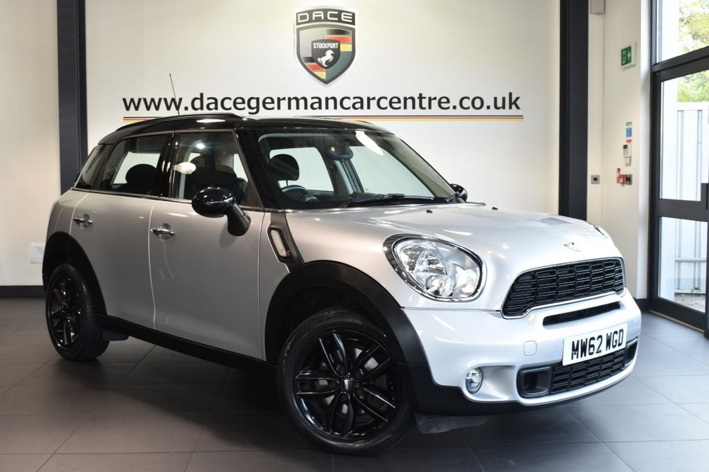 "USED 2013 62 MINI COUNTRYMAN 2.0 COOPER SD 5DR 141 BHP full service history Finished in a stunning crystal metallic silver styled with 17"" alloys. Upon opening the drivers door you are presented with carbon black upholstery, full service history, , dab radio, sport seats, heated mirrors, sport button, Dynamic traction control, Air conditioning, parking sensors"
