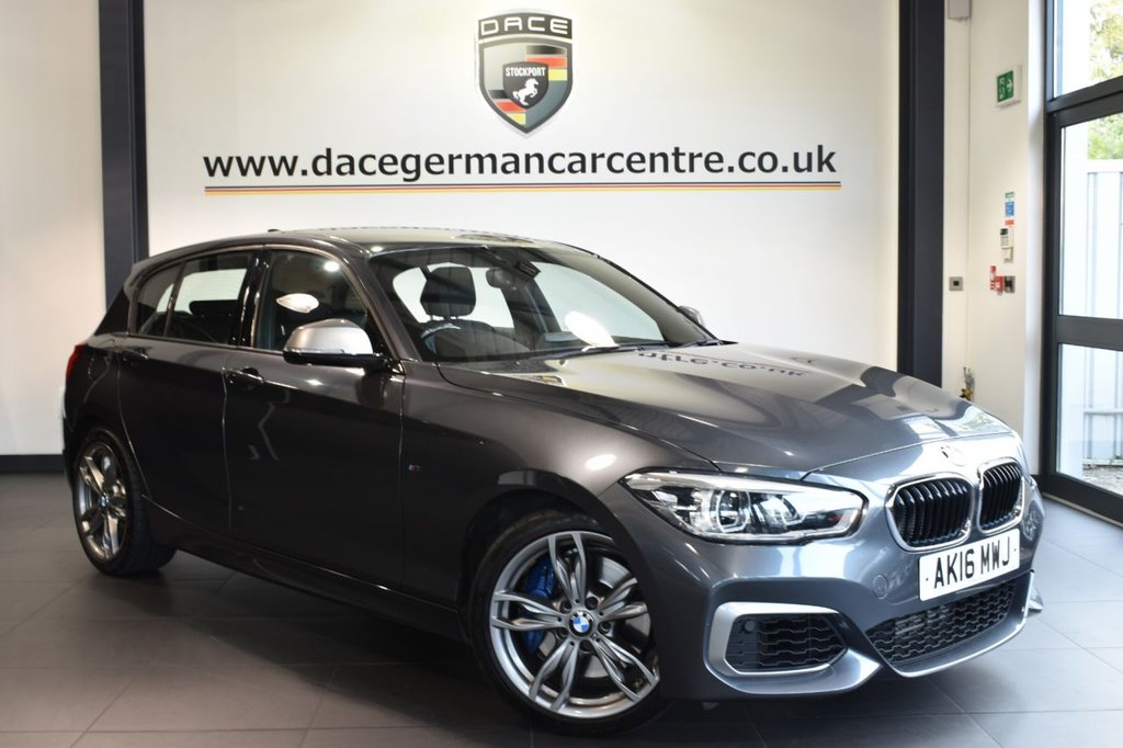 "USED 2016 16 BMW 1 SERIES 3.0 M135I 5DR AUTO 322 BHP full bmw service history Finished in a stunning mineral metallic grey styled with 18"" alloys. Upon opening the drivers door you are presented with full leather interior, full bmw service history, satellite navigation, bluetooth, LED headlights, dab radio, sport seats, Multifunction steering wheel, Light package, Automatic air conditioning, rain sensors, Connected Drive Services"