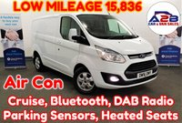 2016 FORD TRANSIT CUSTOM 2.2 TDCi 270 LIMITED 125 BHP with Low Mileage (15836), One Owner from New, Bluetooth Connectivity, Air Conditioning, Cruise Control, Heated Seats and much more £12980.00